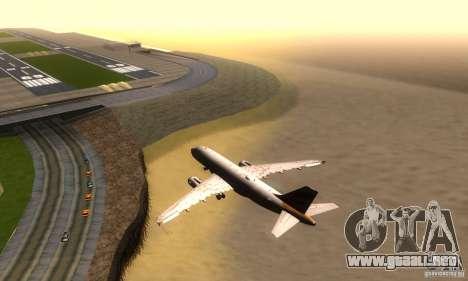 Airbus A319 British Airways Olympic Dove para la visión correcta GTA San Andreas