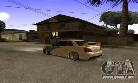 Subaru Impreza WRX STi 2006 para vista lateral GTA San Andreas