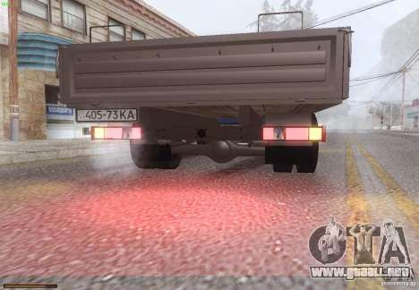 Gacela 33021 para GTA San Andreas vista hacia atrás