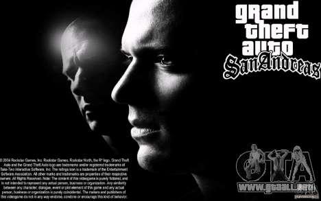Pantalla de arranque de Escape para GTA San Andreas