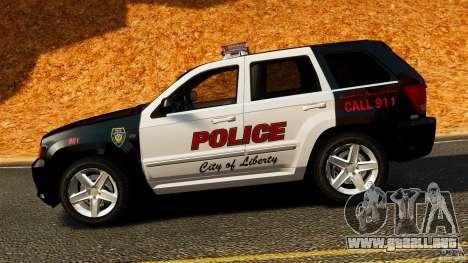 Jeep Grand Cherokee SRT8 2008 Police [ELS] para GTA 4 left
