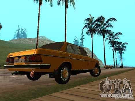Mercedes-Benz 240D Taxi para GTA San Andreas vista posterior izquierda