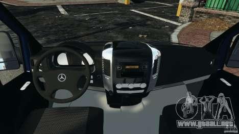 Mercedes-Benz Sprinter G4S ES Cash Transporter para GTA 4 vista hacia atrás
