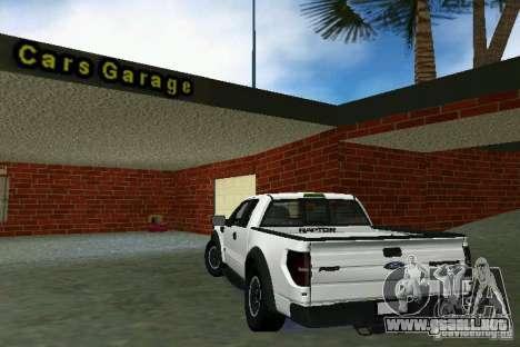 Ford F-150 SVT Raptor para GTA Vice City visión correcta