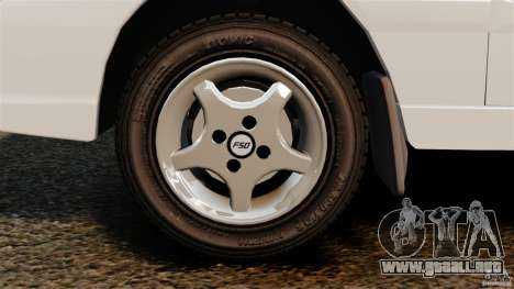 Daewoo-FSO Polonez Caro Plus 1.6 GSI 1998 Final para GTA 4 vista hacia atrás