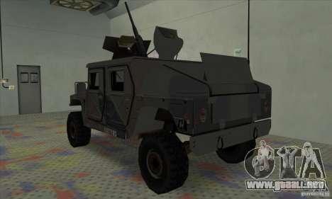 Humvee of Mexican Army para la visión correcta GTA San Andreas
