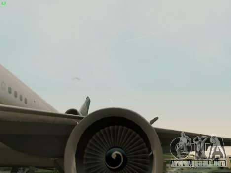 McDonell Douglas DC-10-30 Continental para vista lateral GTA San Andreas