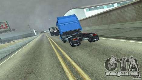 Man F2000 para GTA San Andreas vista posterior izquierda