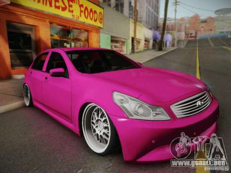 Infiniti G37 Sedan para GTA San Andreas left