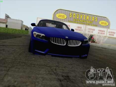 BMW Z4 2011 para GTA San Andreas vista posterior izquierda