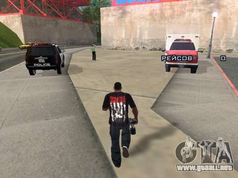 Reportero para GTA San Andreas segunda pantalla