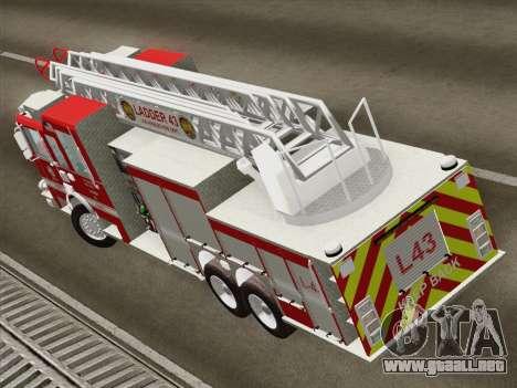 Pierce Arrow LAFD Ladder 43 para visión interna GTA San Andreas