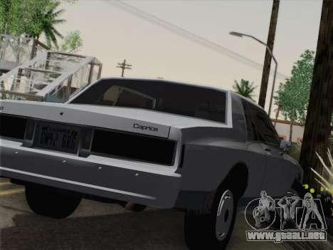 Chevrolet Caprice 1986 para GTA San Andreas vista hacia atrás