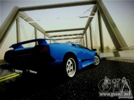 Lamborghini Diablo VT 1994 para GTA San Andreas vista posterior izquierda