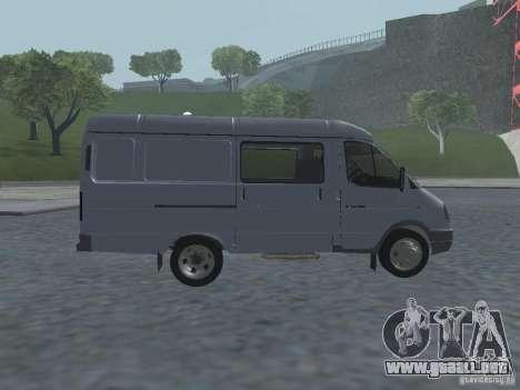 Gacela 2705 Gruzopasažirskaâ para GTA San Andreas vista hacia atrás