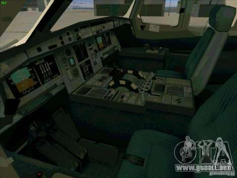 Airbus A380-800 para vista inferior GTA San Andreas