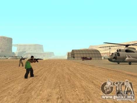 Aliados intelectuales para GTA San Andreas segunda pantalla