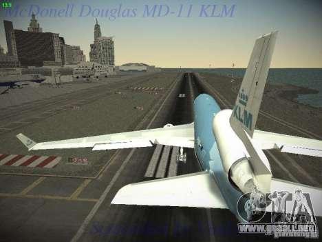 McDonnell Douglas MD-11 KLM Royal Dutch Airlines para la visión correcta GTA San Andreas