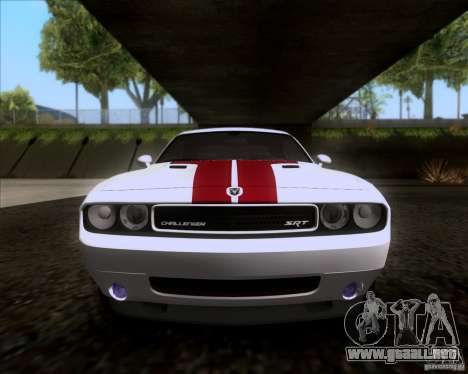 Dodge Challenger SRT8 2009 para visión interna GTA San Andreas