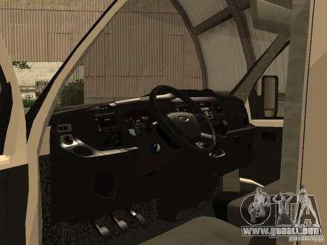 GAZ 2752 Sobol negocios para GTA San Andreas vista hacia atrás