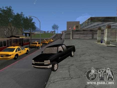 Chevorlet Silverado 2000 para GTA San Andreas vista posterior izquierda