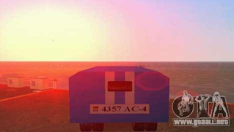ZIL 130 para GTA Vice City vista posterior