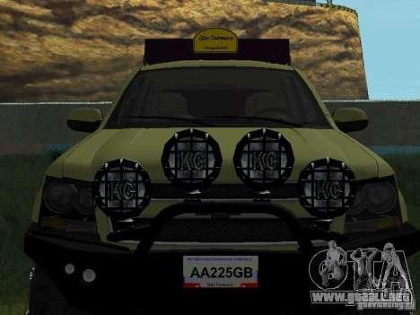 Chevrolet Tahoe Off Road para GTA San Andreas vista hacia atrás