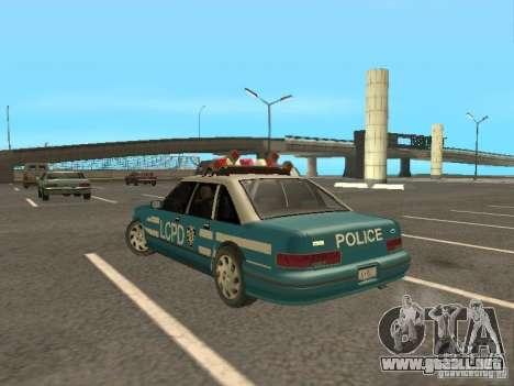 HD Police from GTA 3 para GTA San Andreas vista posterior izquierda