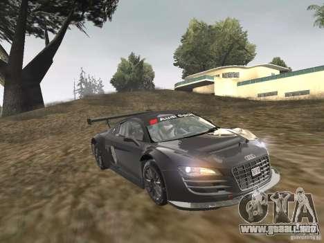 Audi R8 LMS v3.0 para GTA San Andreas vista posterior izquierda