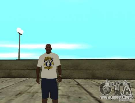 Camiseta WWE John Cena para GTA San Andreas