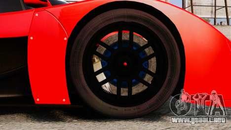 Toyota GT-One TS020 para GTA 4 vista hacia atrás