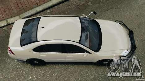 Chevrolet Impala Unmarked Detective [ELS] para GTA 4 visión correcta