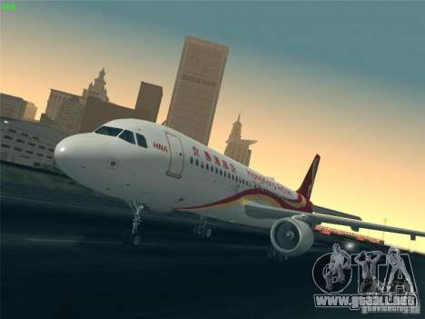 Airbus A320-214 Hong Kong Airlines para vista inferior GTA San Andreas