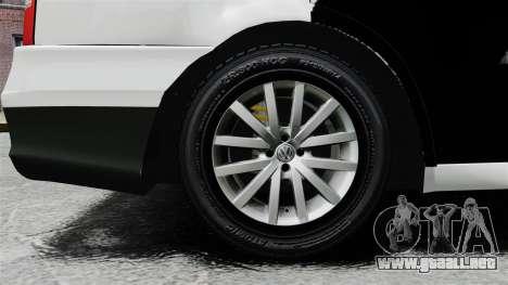Volkswagen Parati G4 PMESP ELS para GTA 4 vista hacia atrás
