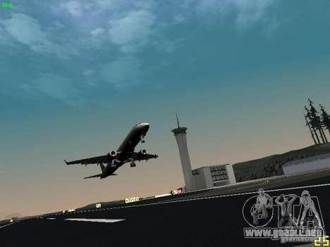 Embraer ERJ 190 USAirways para GTA San Andreas vista hacia atrás