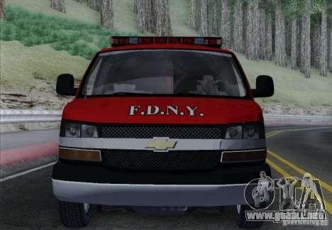 Chevrolet Express Special Operations Command para la vista superior GTA San Andreas