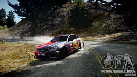 Mercedes Benz C63 AMG SAIBON Paint Job para GTA 4 left