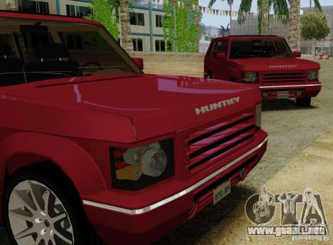 Huntley Freelander para GTA San Andreas vista posterior izquierda