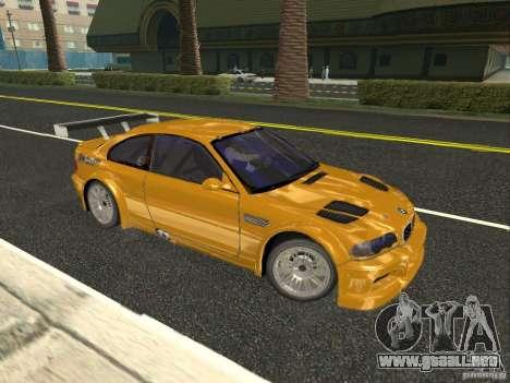 BMW M3 GTR de NFS Most Wanted para GTA San Andreas left