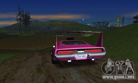 Dodge Charger Daytona SRT10 para GTA San Andreas vista hacia atrás