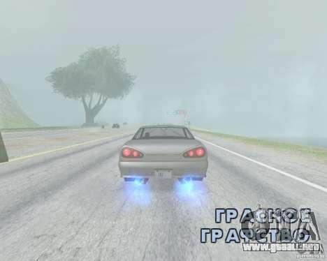 El borrón cuando usando Nitro para GTA San Andreas segunda pantalla