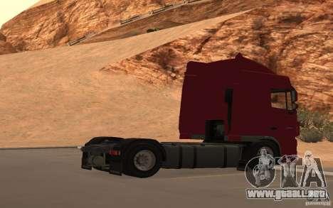 DAF FX 105 para la vista superior GTA San Andreas