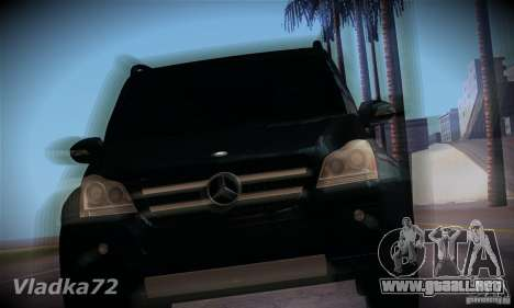 Mercedes-Benz GL500 V.2 para GTA San Andreas vista hacia atrás