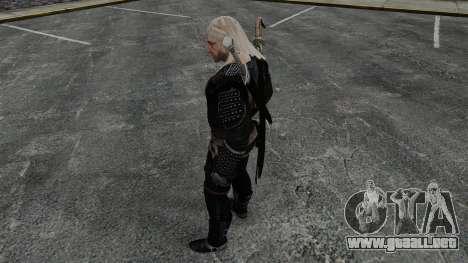 Geralt de Rivia v8 para GTA 4 adelante de pantalla