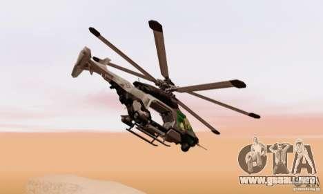 Helicóptero AH-2 Сrysis 50 C.E.L.L. para GTA San Andreas vista posterior izquierda