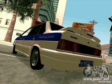 VAZ 2115 policía para la visión correcta GTA San Andreas