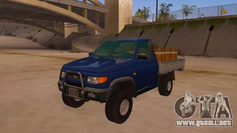 UAZ-2360 para vista inferior GTA San Andreas