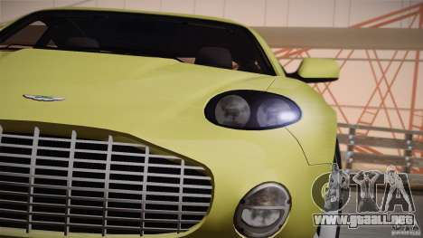 Aston Martin DB7 Zagato 2003 para la vista superior GTA San Andreas