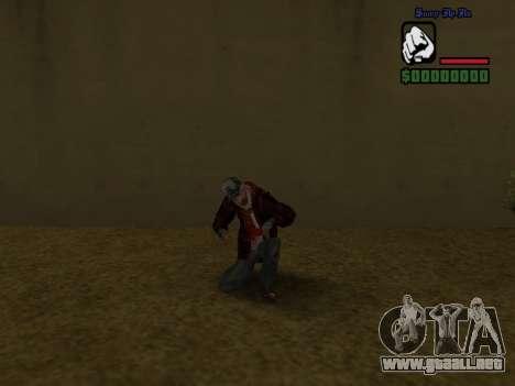 La chaqueta de vago de la piel para GTA San Andreas sexta pantalla