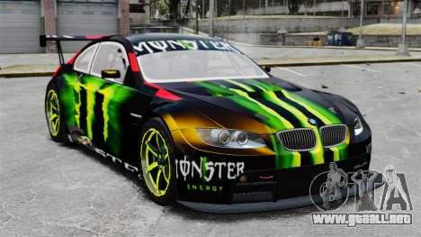 BMW M3 (E90) 2008 Monster Energy v1.2 para GTA 4